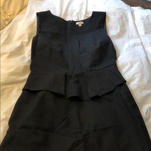 J. Crew black wool peplum dress